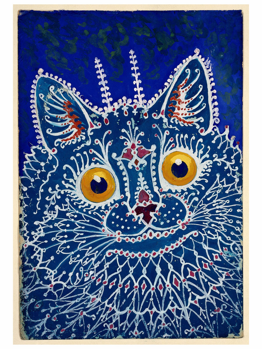Cat in 'Gothic Style' by Louis Wain - 1925