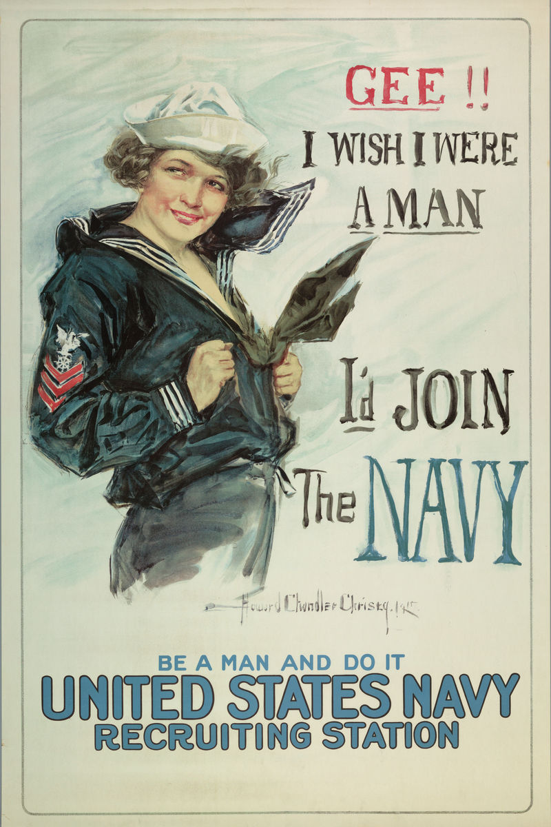Navy Recruiting, poster by Howard Chandler Christy - 1918