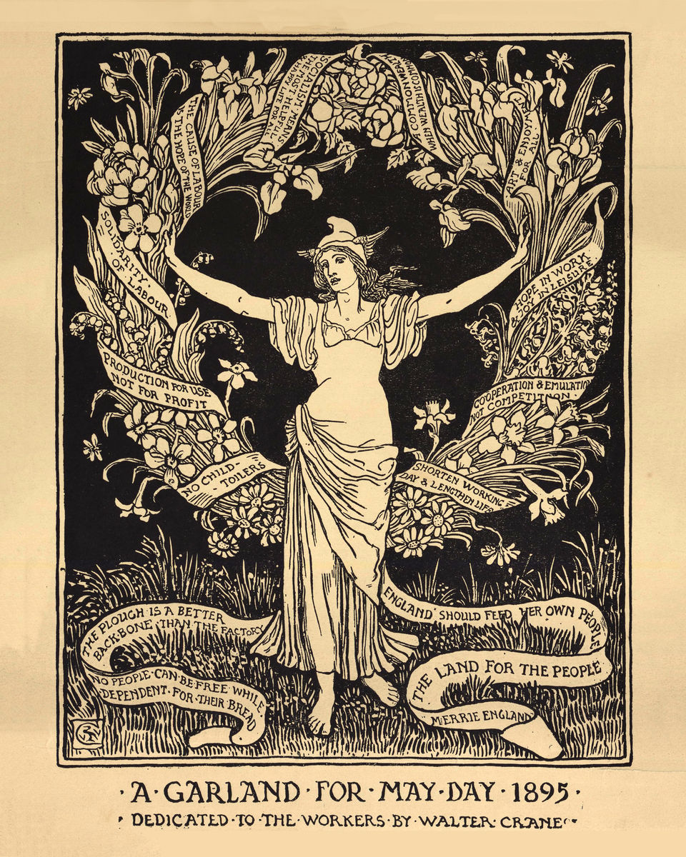 A Garland for May Day - 1895