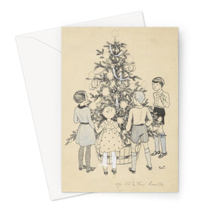Four Children Around a Christmas Tree by Miep de Feijter, c. 1928 - c. 1941.