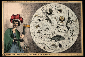Horrors In River Thames Water by W. Heath - 1828