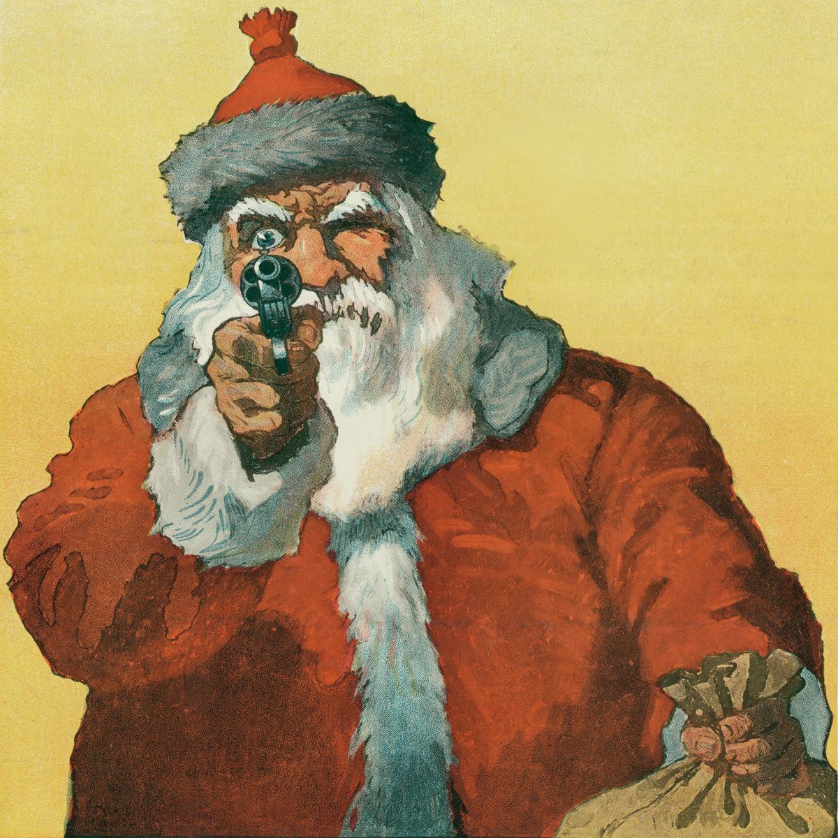 Santa Claus With a Handgun by Will Crawford - 1912