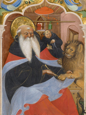 Saint Jerome Extracting a Thorn by Master of the Murano Gradual - 1450