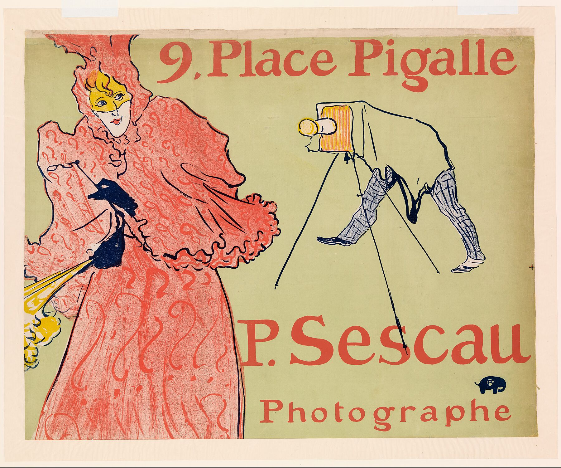 The Photographer Sescau (Le Photographe Sescau), 1894 - by Henri de Toulouse-Lautrec.