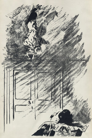 Illustration for Edgar Allan Poe's The Raven by Édouard Manet - 1875