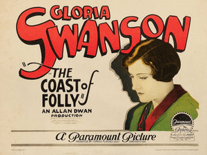 The Coast of Folly, Lobby Card - 1925