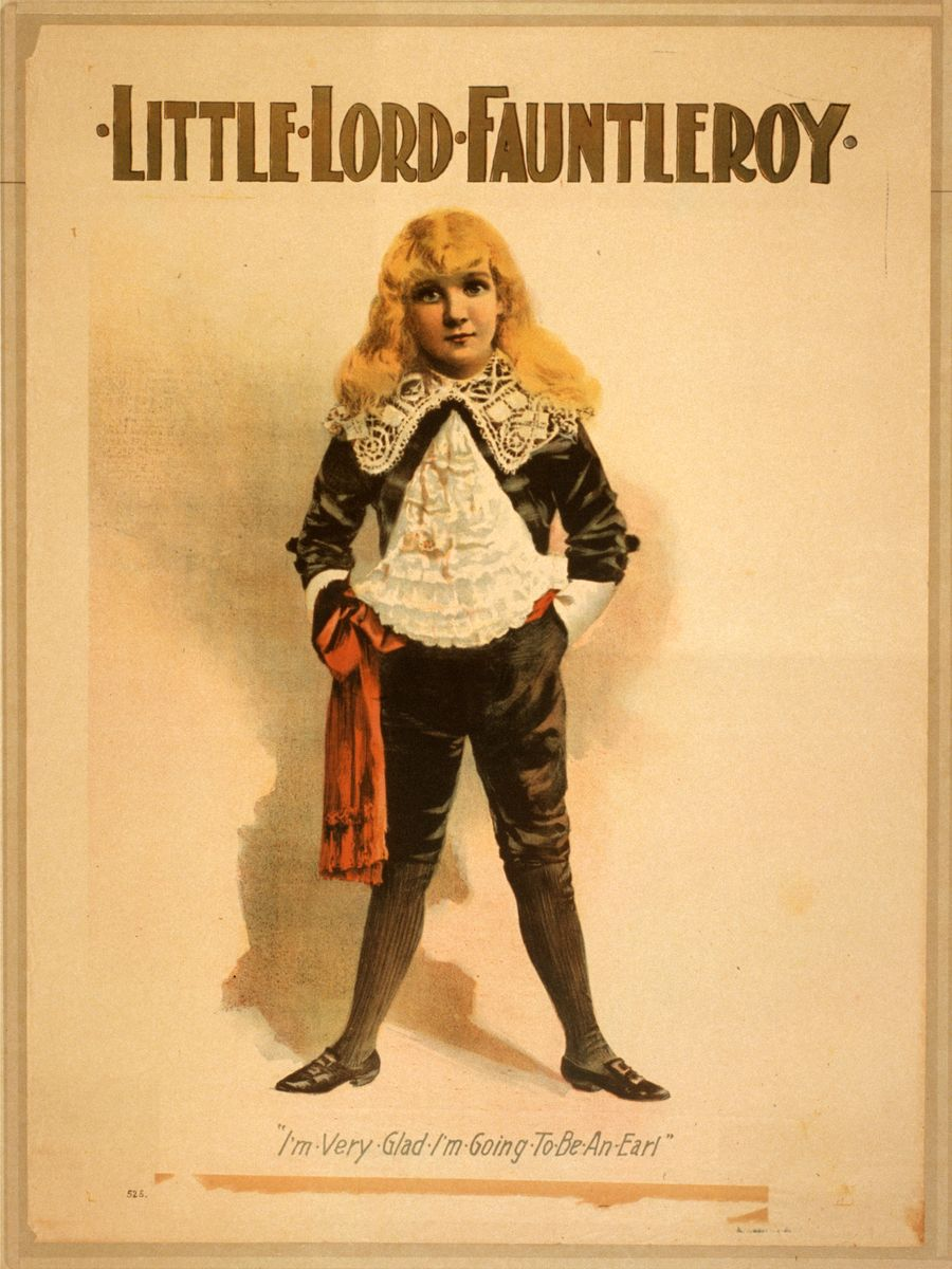 Little Lord Fauntleroy, theatrical poster - 1888