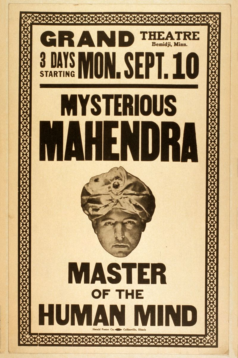 Mysterious Mahendra, Master of the Human Mind - 1923