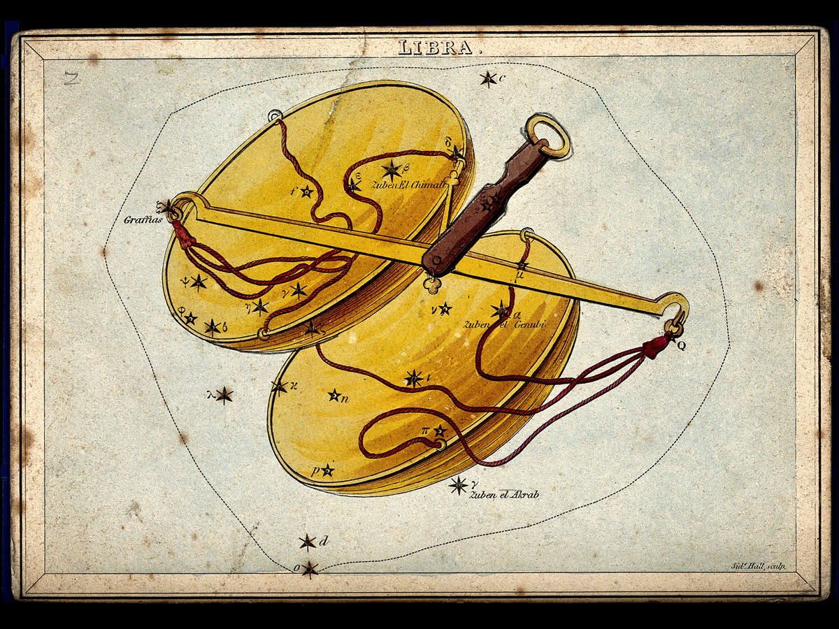 Libra by Sidney Hall - 1825