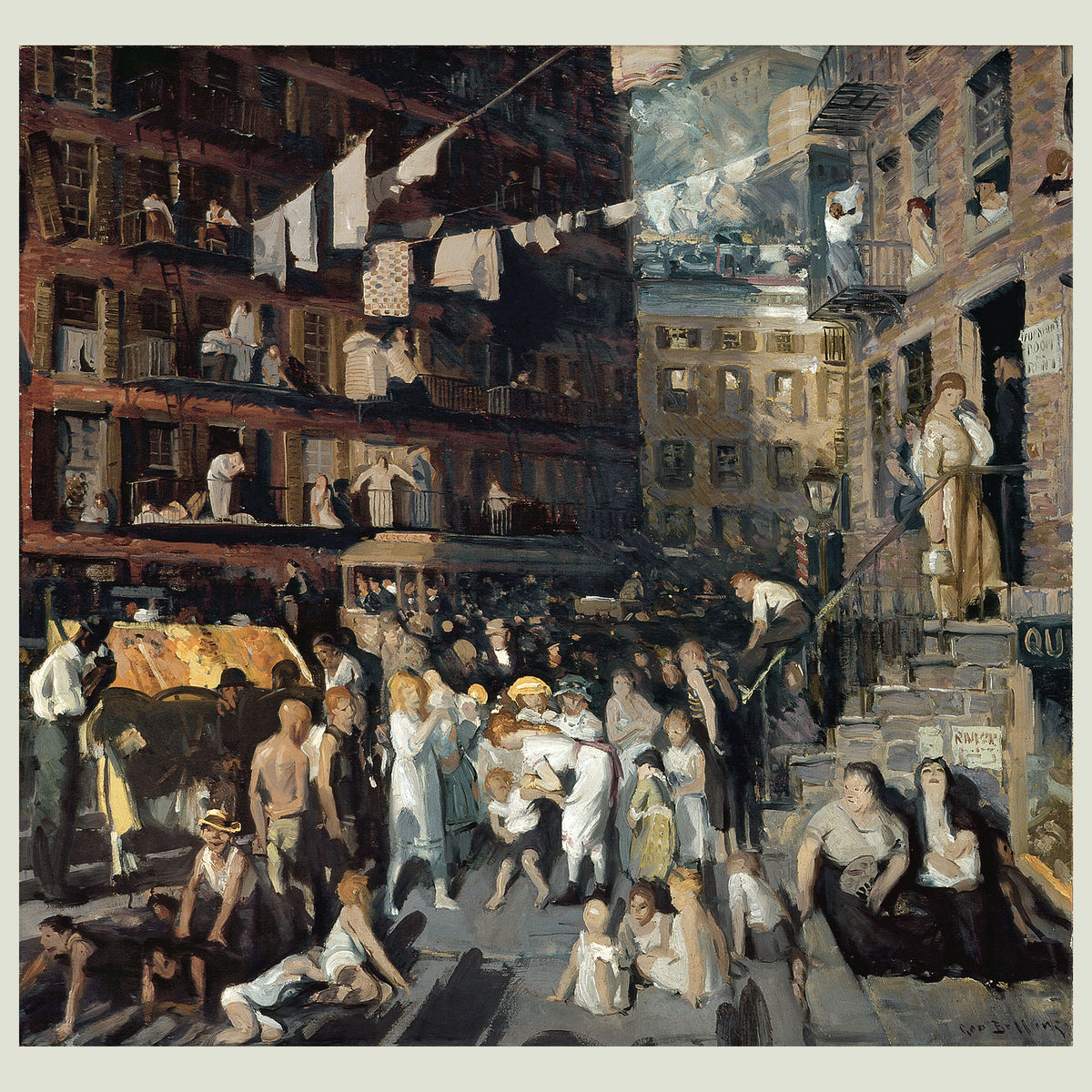 The Cliff Dwellers by George Bellows - 1913