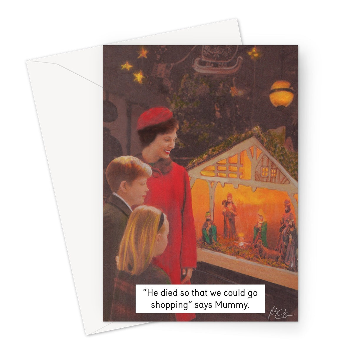 We Do Christmas by Miriam Elia - Greeting Card