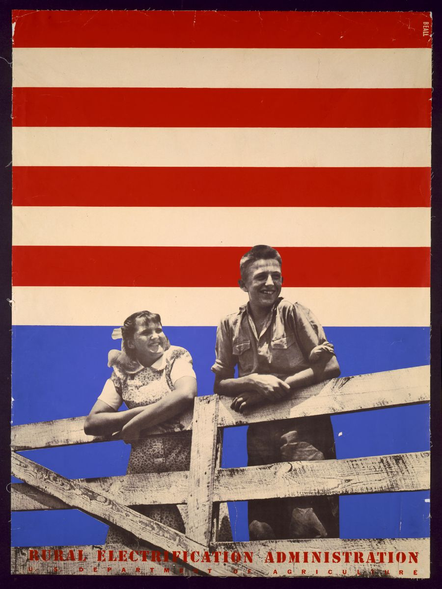 'Smiling Boy and Girl' - Rural Electrification Administration, U.S. Department of Agriculture - Lester Beall, 1930