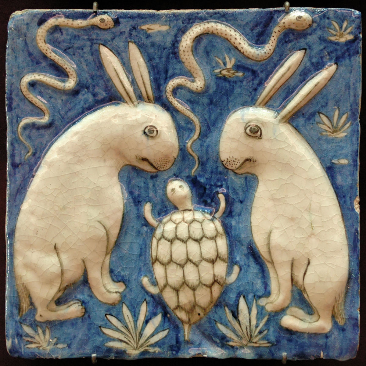 Rabbits and Tortoise - 13th Century