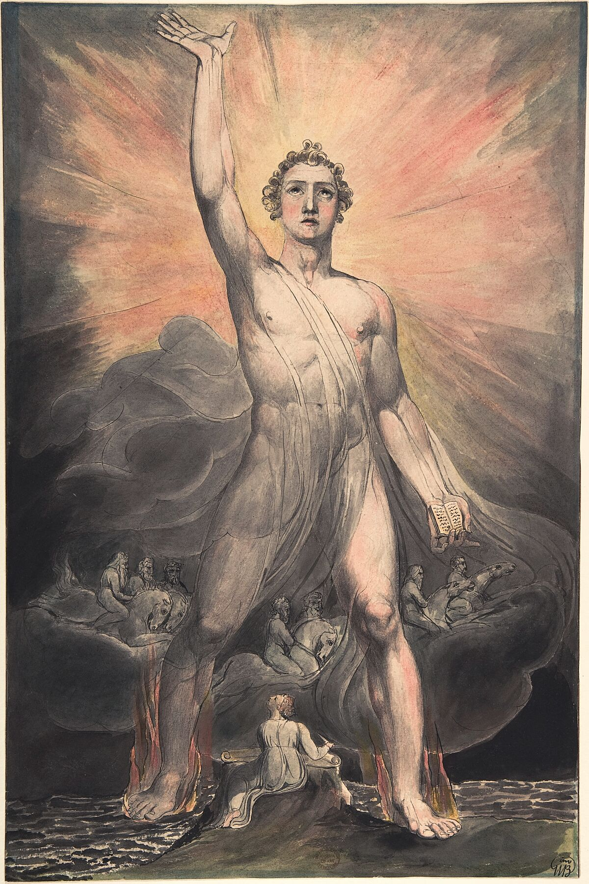 Angel of the Revelation (Book of Revelation, chapter 10) by William Blake - ca. 1803–5
