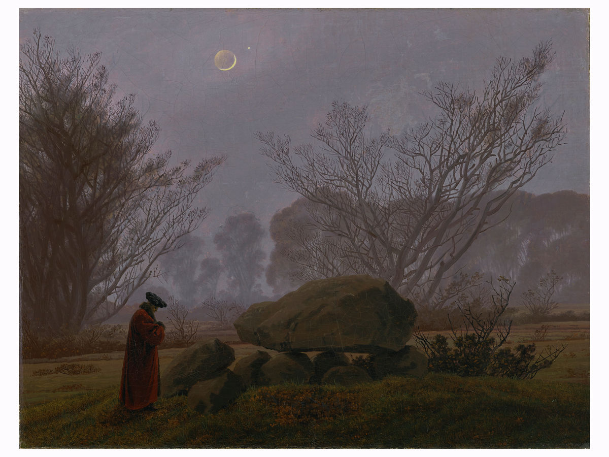 A Walk at Dusk by Caspar David Friedrich - 1830-1835 print