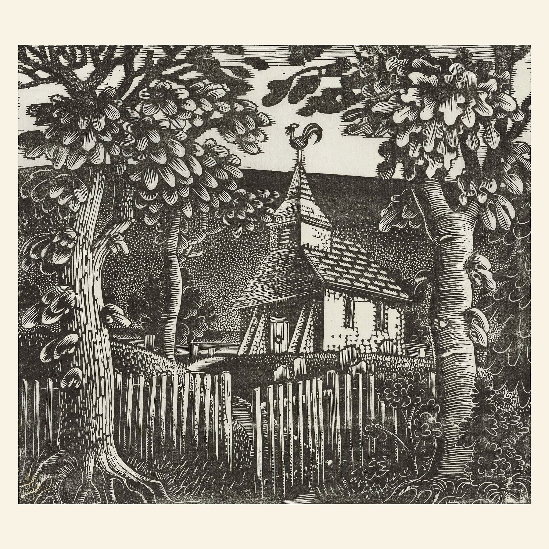 Sussex Church by Eric Ravilious - c.1931