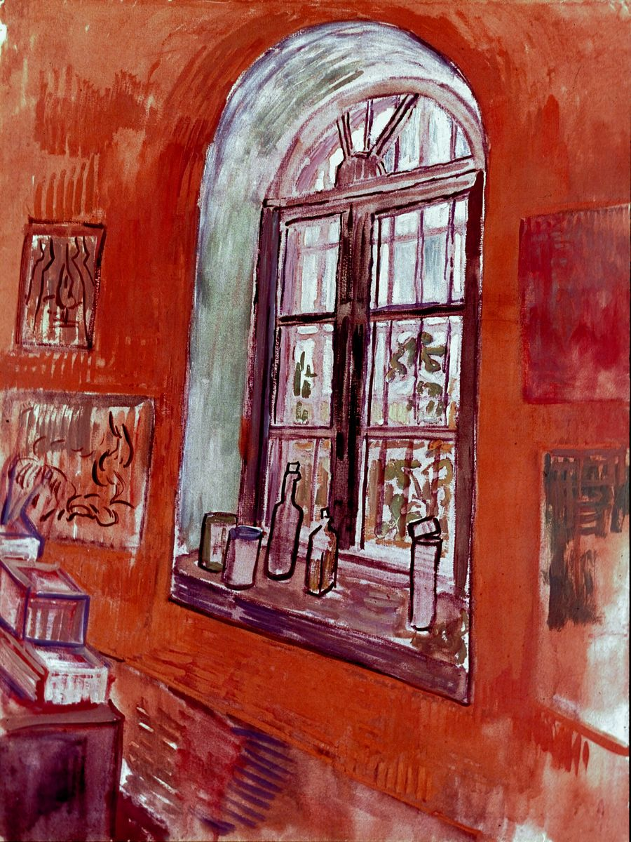 Window of Vincent's Studio at the Asylum, by Vincent van Gogh - 1889