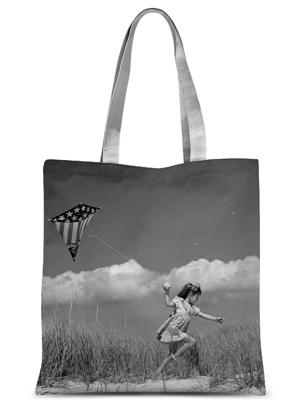 Girl Running With A Kite, Long Island, 1944 - Sublimation Tote Bag