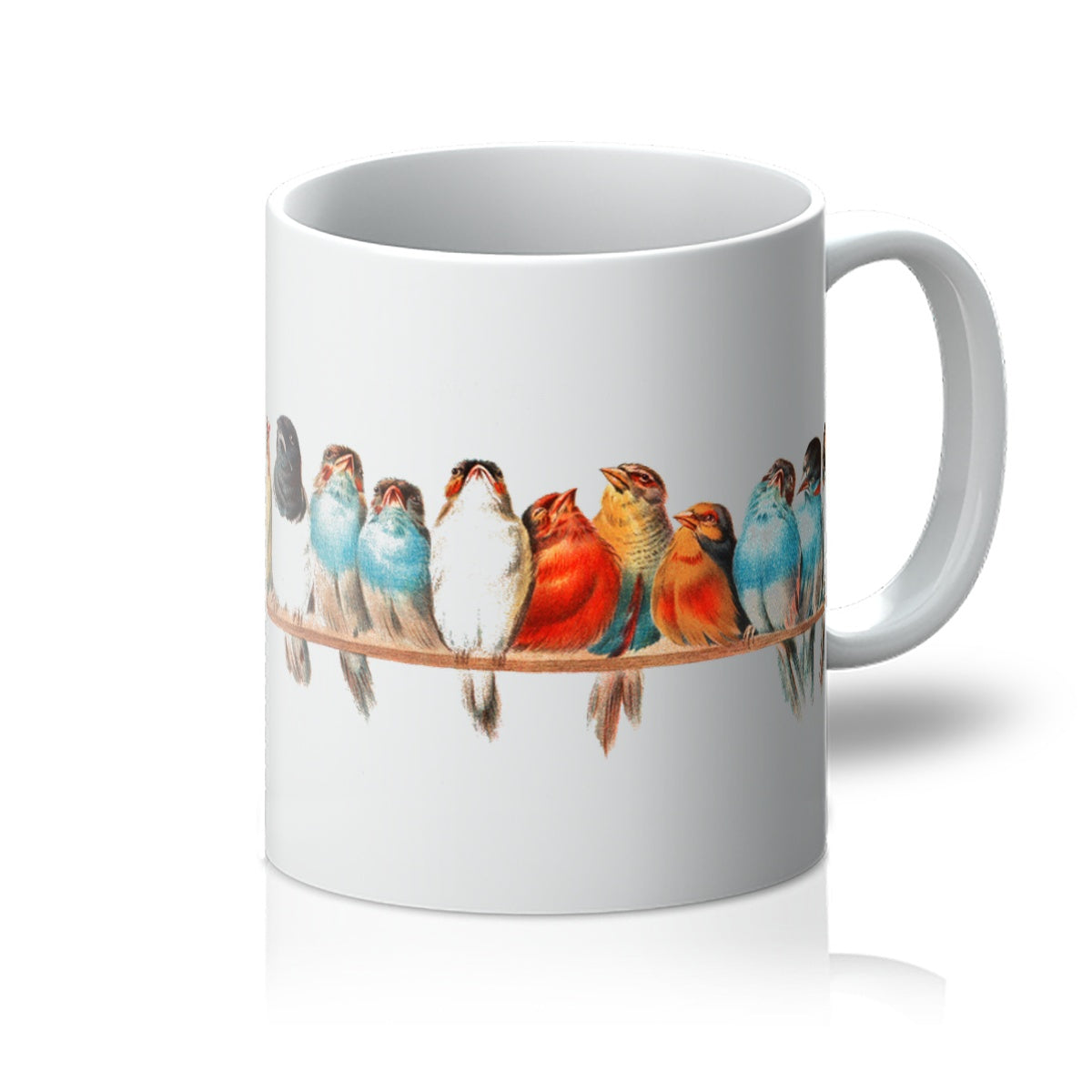 A Perch of Birds by Hector Giacomelli, 1880 - Mug