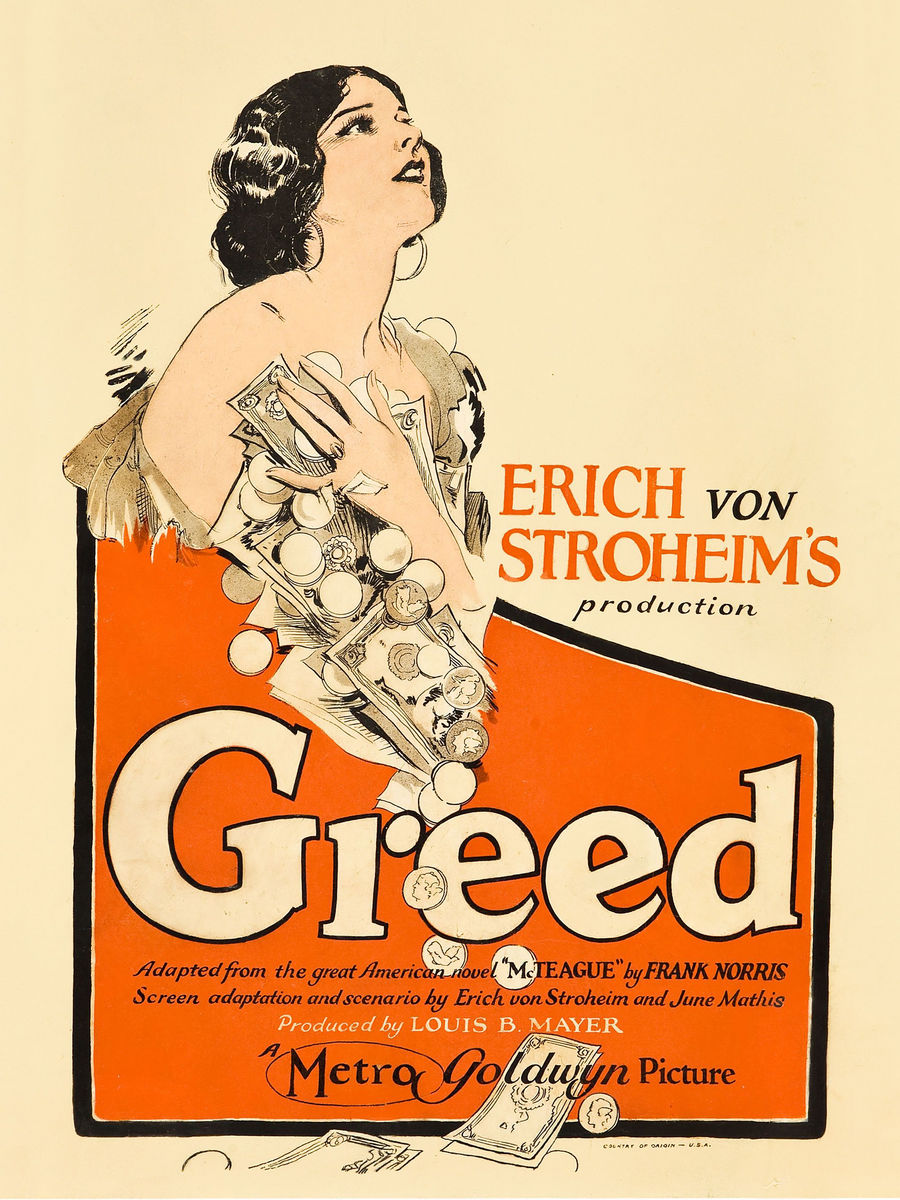 Greed, movie poster - 1924
