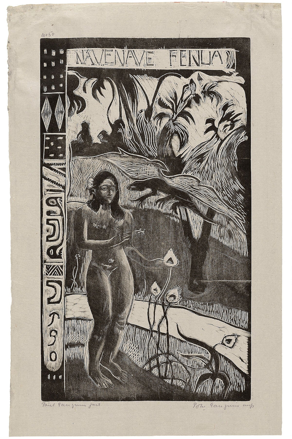 Nave nave fenua (Delightful Land), from the Noa Noa Suite Date- 1893_94, printed 1921 Paul Gauguin