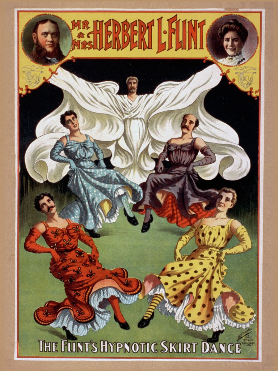 The Flint's Hypnotic Skirt Dance - 1895