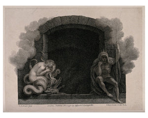The Entrance to Hell Guarded by Sin and Death by F. Bartolozzi - 1792