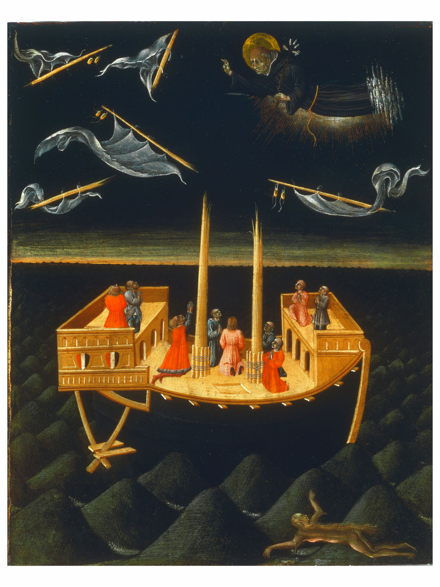 Saint Nicholas of Tolentino Saving a Shipwreck by Giovanni di Paolo - 1457