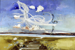 Aerial Battle With Contrails by Paul Nash - 1941