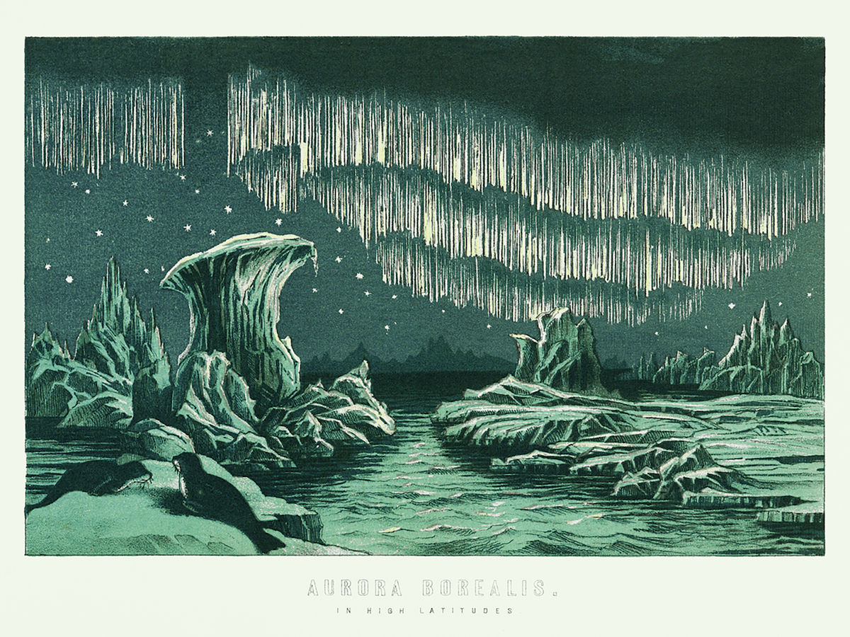 Aurora Borealis in High Latitudes - 1891