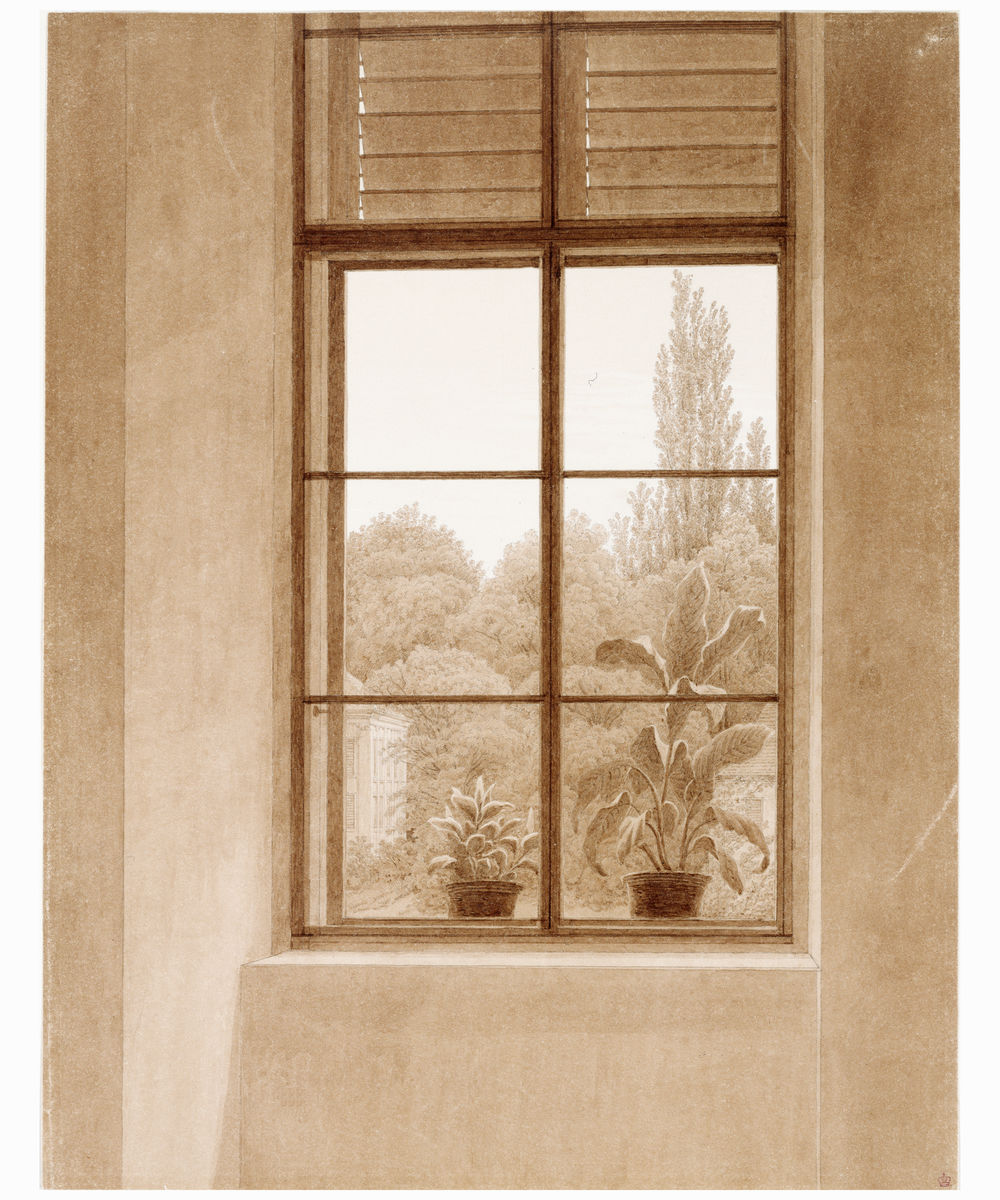 Window Looking Out On the Park by Caspar David Friedrich - c. 1810