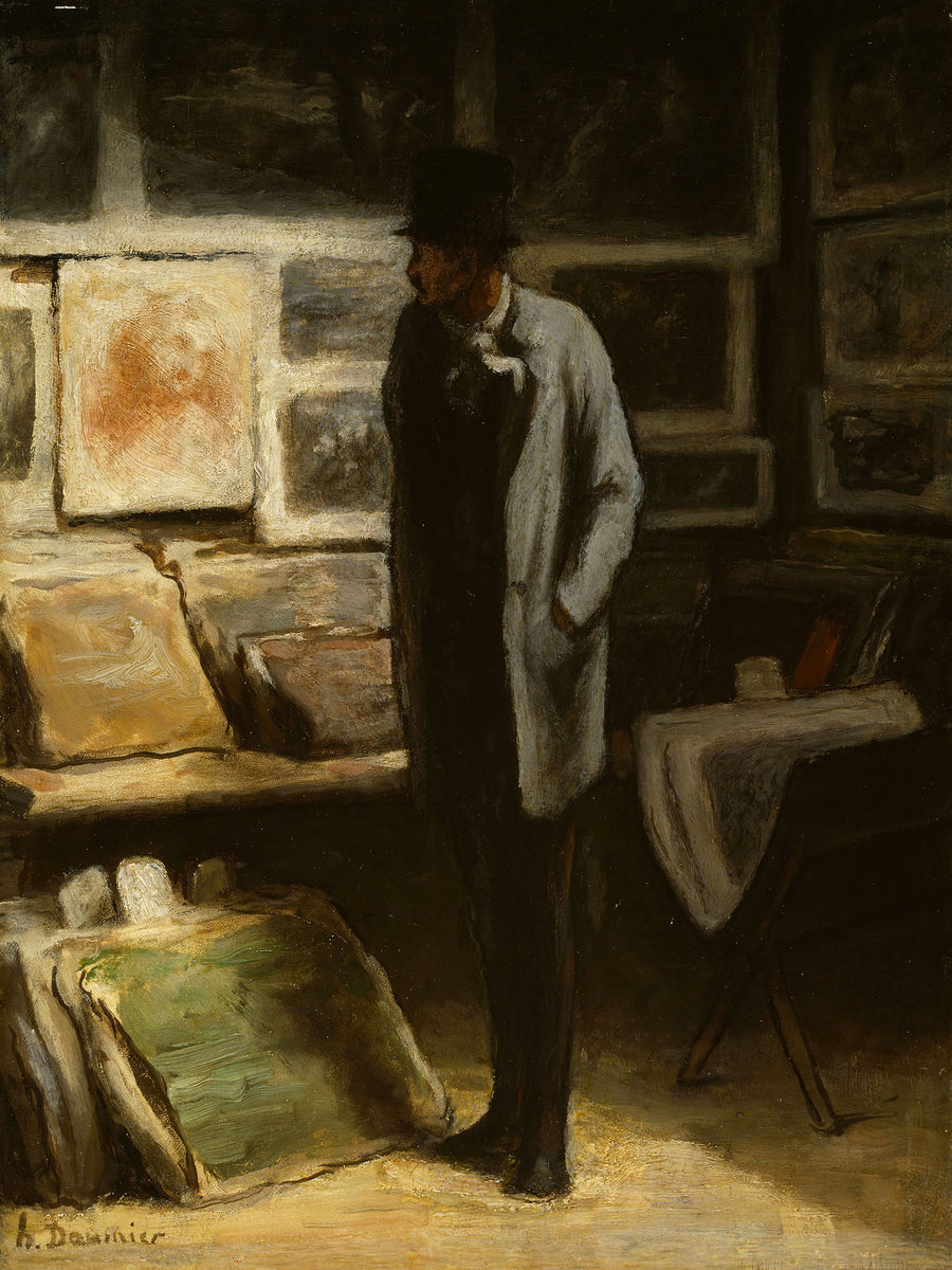 The Print Collector by Honoré Daumier - c. 1852-1868