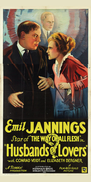 Poster for the Movie 'Husbands or Lovers' - 1924