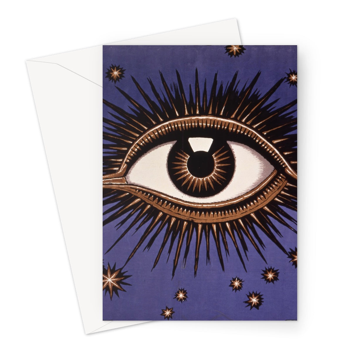 Eye by Franz von Stuck - 1911, Greeting Card