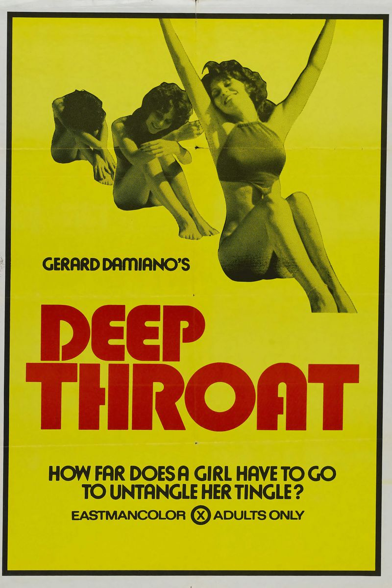 Poster for the Adult Movie 'Deep Throat' - 1972