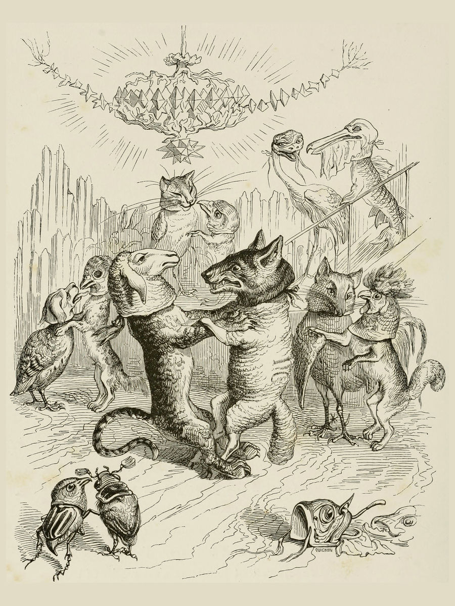 Dancing Animals , Illustration from 'Un Autre Monde'