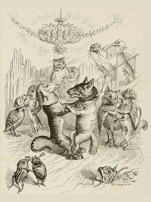 Dancing Animals by J.J. Grandville - 1844