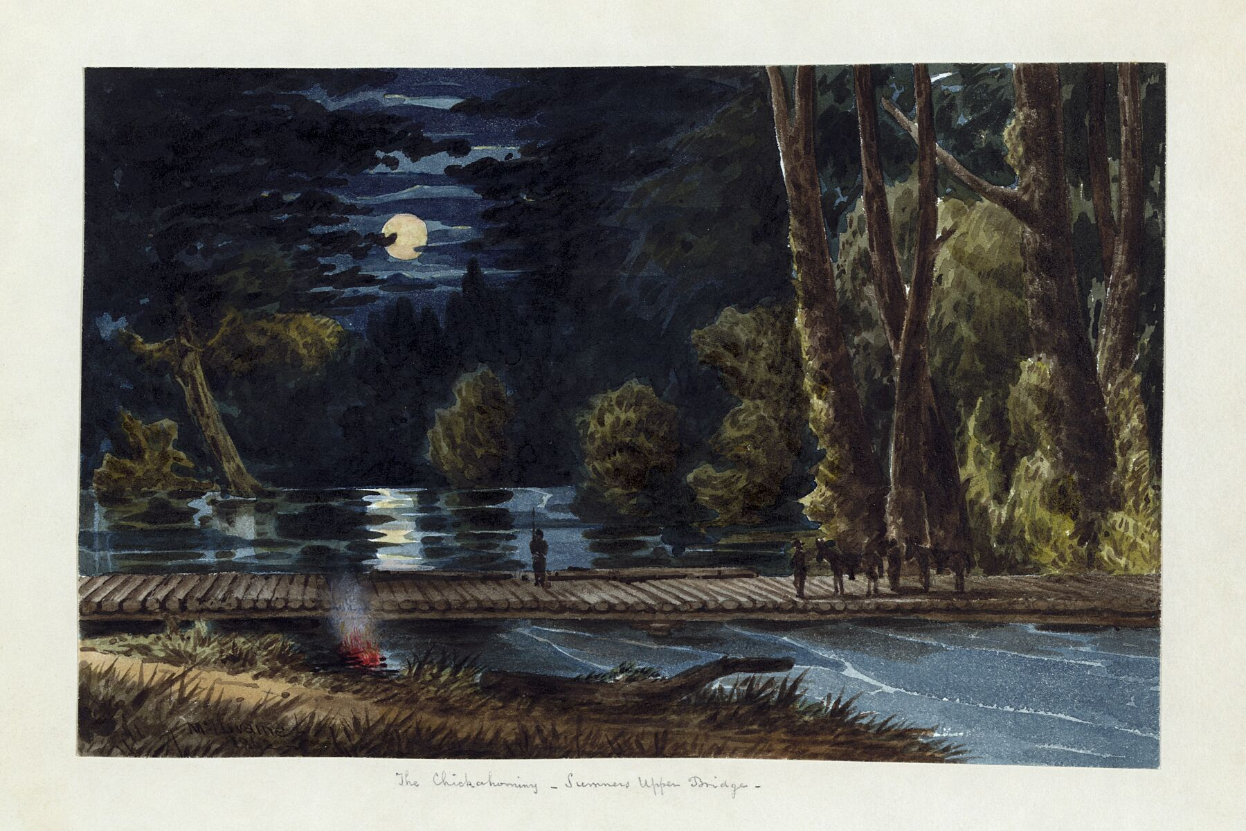 The Chickahominy, Sumners Upper Bridge by William McIlvaine - 1862