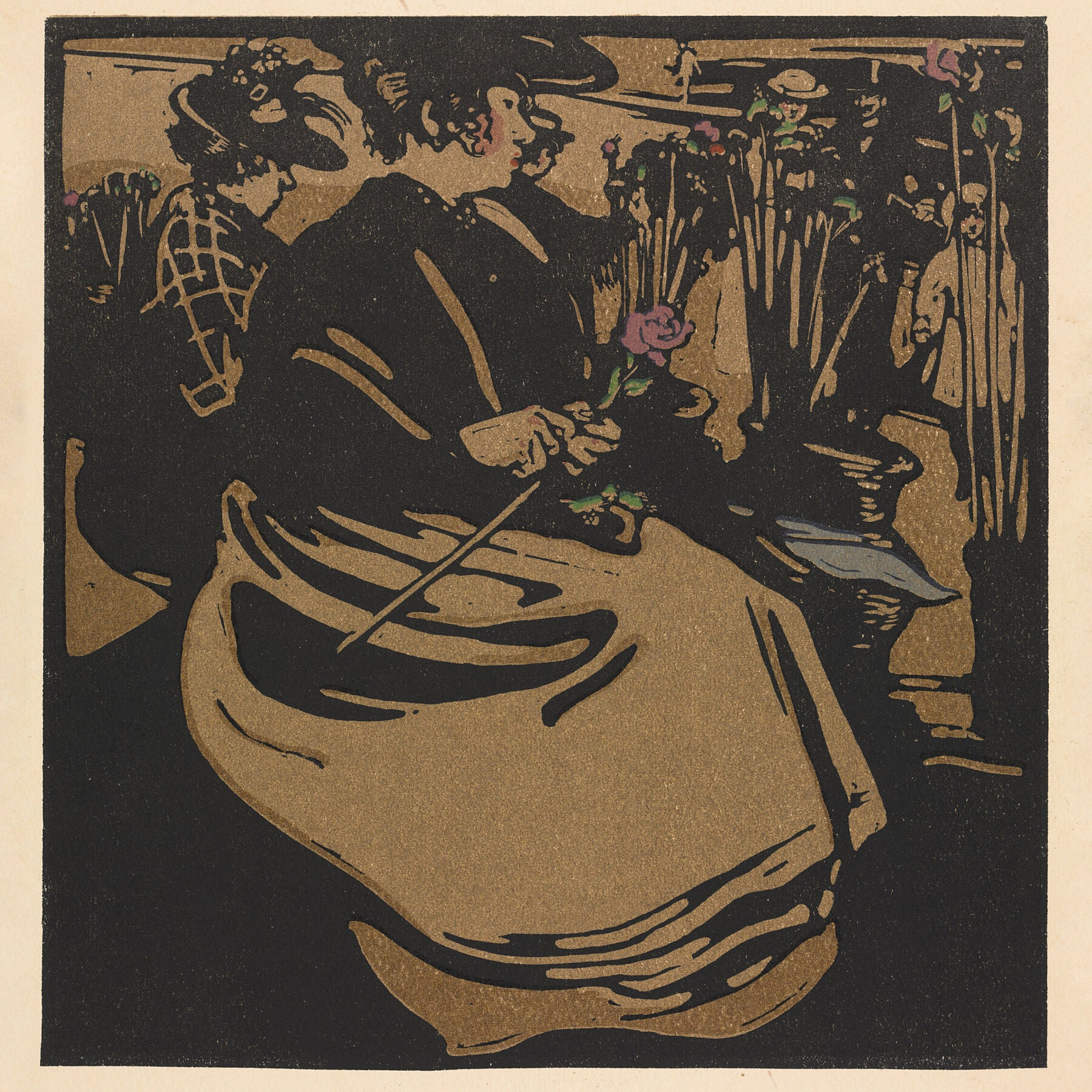 London Types : Flower Girl by William Nicholson - 1898.
