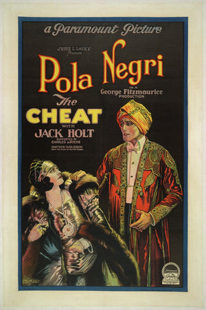 The Cheat, movie poster - 1923