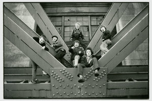 Lads on Tyne Bridge, Newcastle by Dave Sinclair - 1982