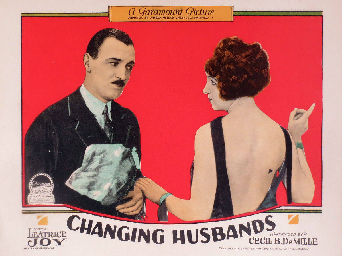 Changing Husbands Lobby Card (II) - 1924