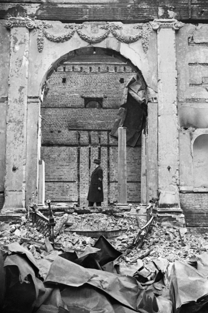 Ruins of the Great Synagogue by Cecil Beaton - 1941
