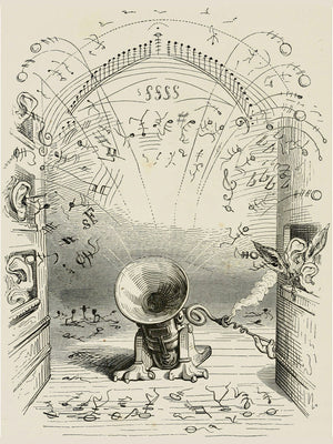 Musical Notes by J.J. Grandville - 1844