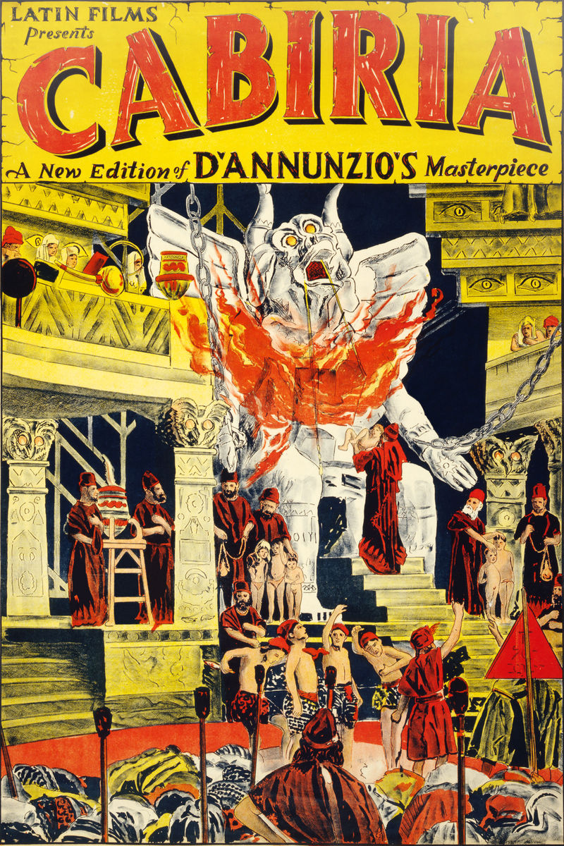 Poster for the American Release of 'Cabiria' - 1914