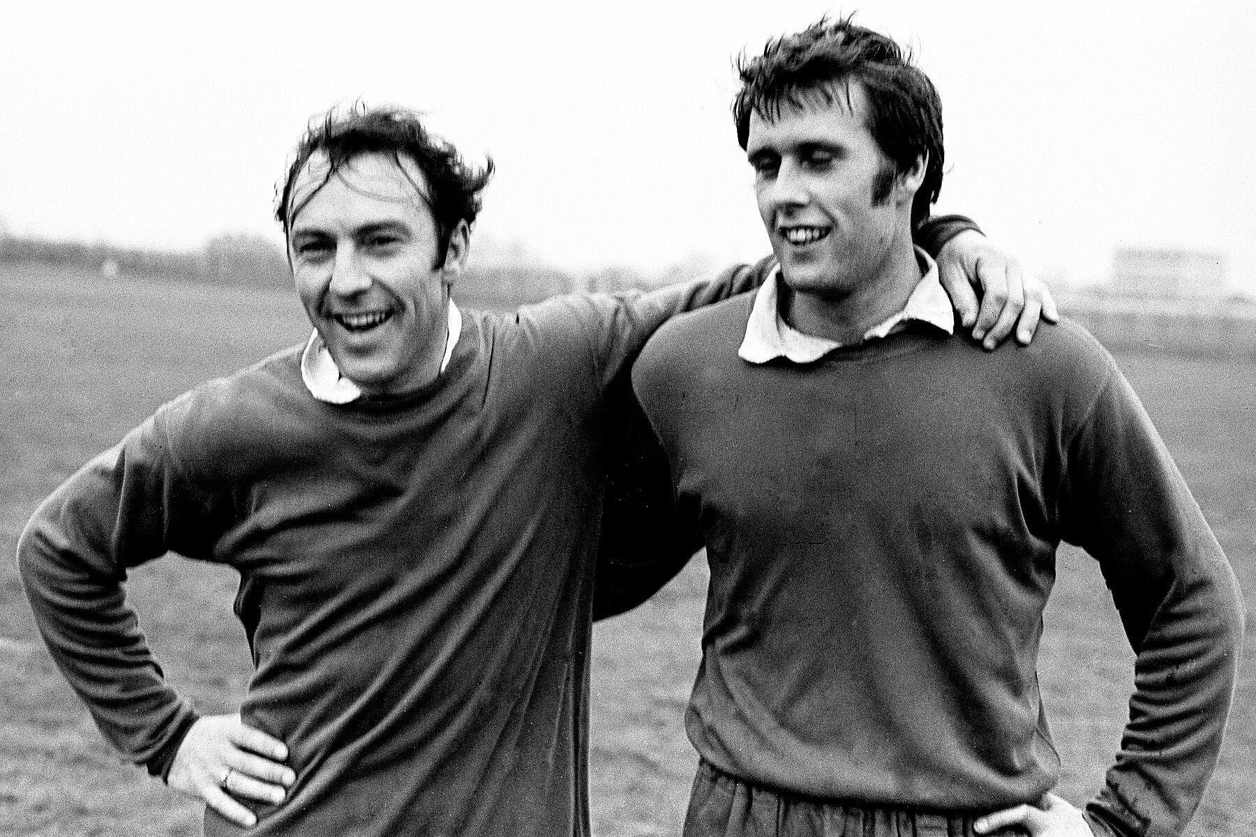 West Ham Footballers Jimmy Greaves and Geoff Hurst by Steve Lewis - 1960s