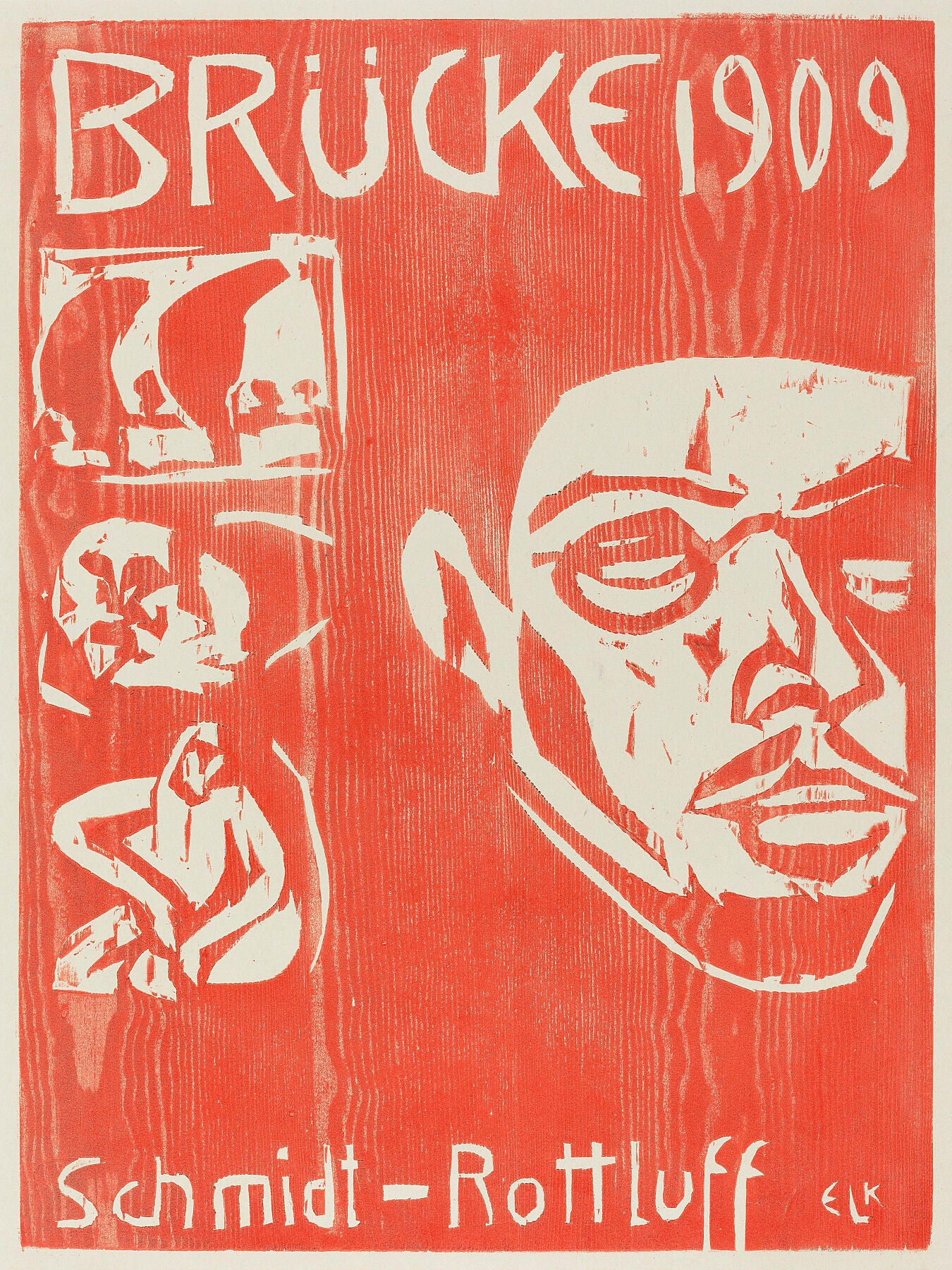 Cover of the Fourth Yearbook of the Artist Group the Brucke by Ernst Ludwig Kirchner - 1909