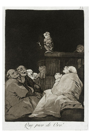 What a Golden Beak! From Los Caprichos by Goya - 1799