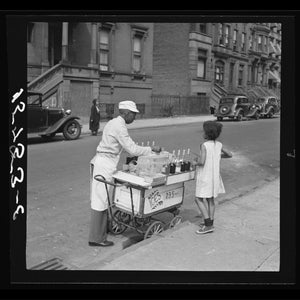 Street Vendor Selling Ices, New York by Jack Allison - Summer, 1938