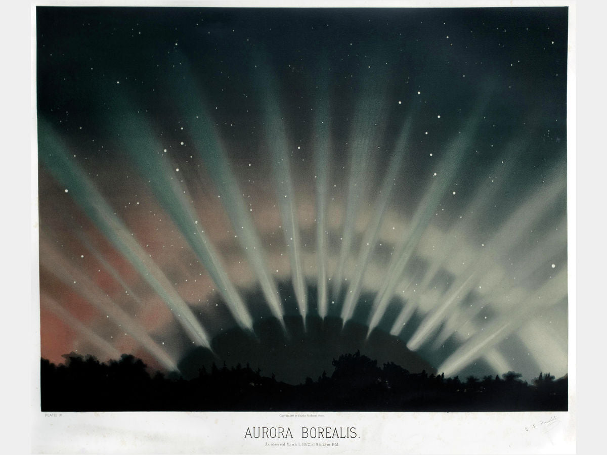 Aurora Borealis From The Trouvelot Astronomical Drawings